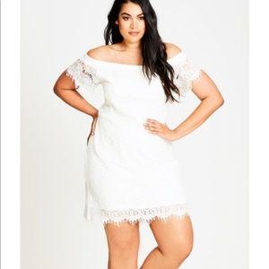 NWT City Chic Cream Lace Dress Size 16